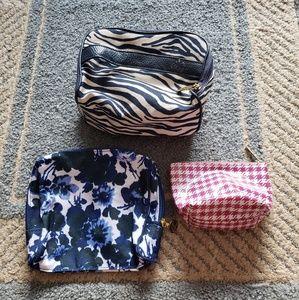 3 pcs Estee Lauder & Bare Minerals Cosmetic Bags